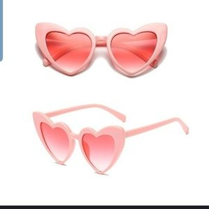 Accessories - Heart Shaped Cat Eye Sunglasses